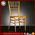 Transparent aluminum golden wedding chiavari chair D-001