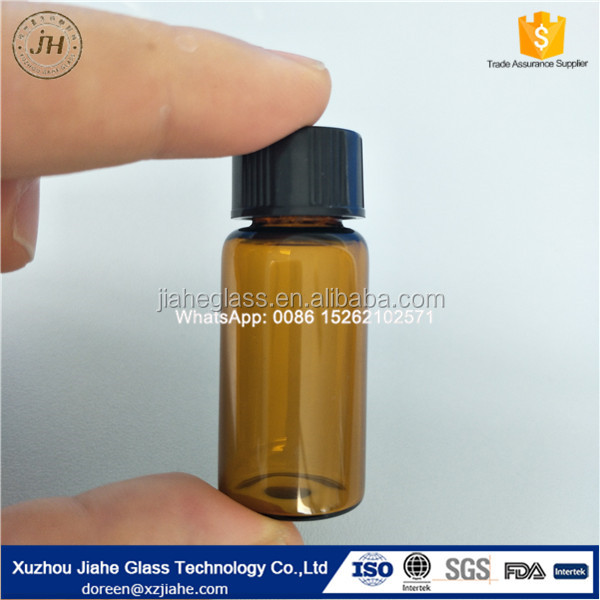 5ml Amber Tube essential oil Glass bottle/glass vial with Phenolic cap