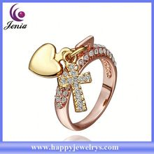 Newest arrival real 18k gold plated ring gold rings new model 2013 RGPR372