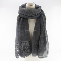 New arrival lace dubai hijab muslim fashion scarf