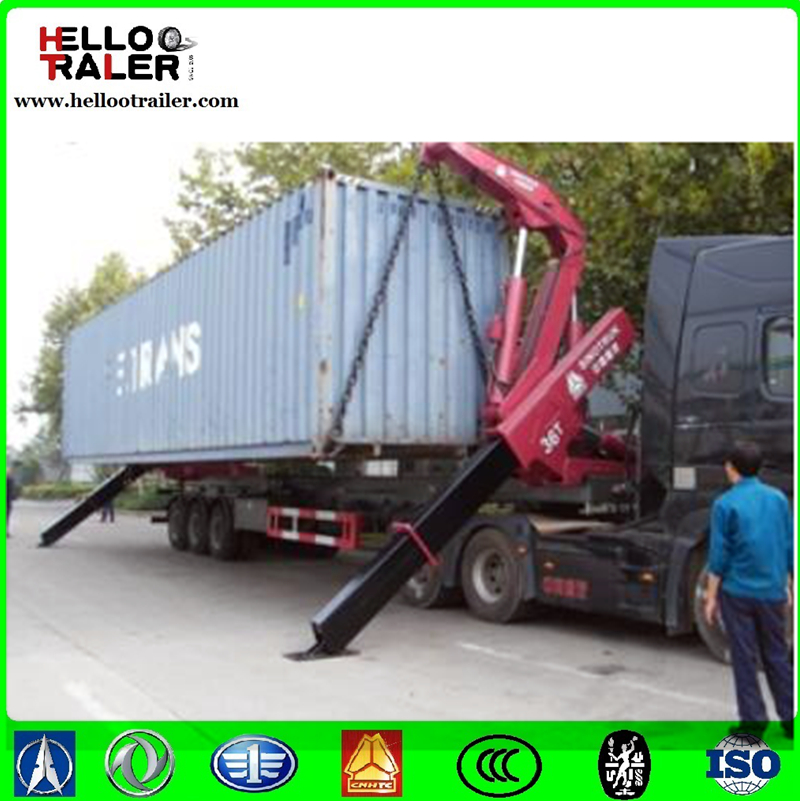 Cheap container side loader/self load trailer for sale