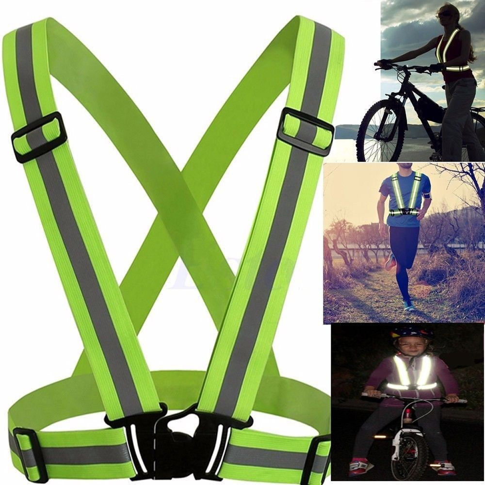 High Visibility Security Safety Reflective Vest Belt for Night Running Jogging Biking