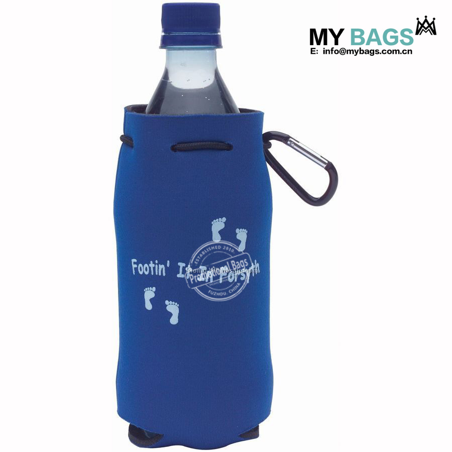 custom wholesale promotional personalized neoprene drawstring bag with logo print