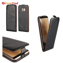 Mobile Phone Accessories Vertical Flip Leather Cover for Samsung Galaxy S8 S8 Plus Case Capa Coque Carcasa