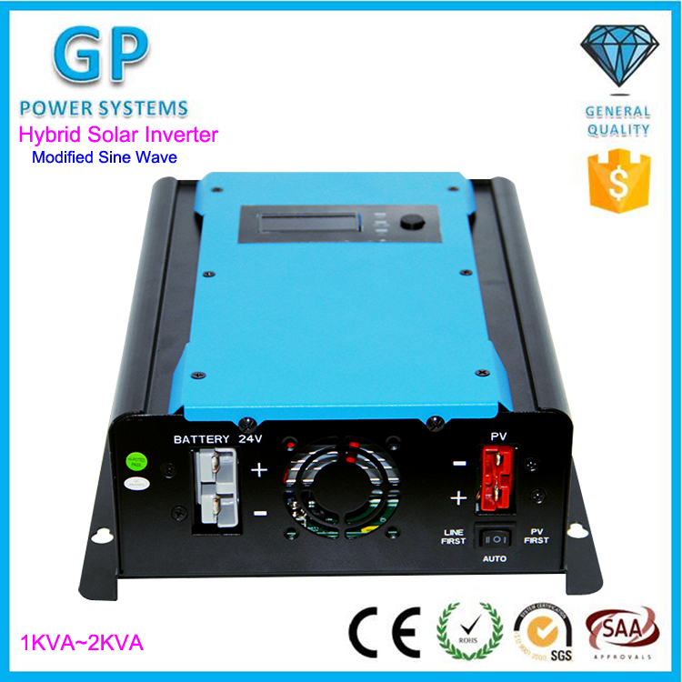 1KVA 2KVA Modified Sine Wave Off Grid Hybrid Solar Inverter 12V 24V Battery Inverter
