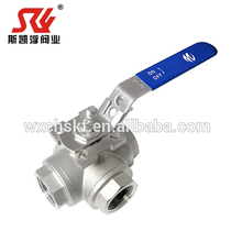 Metal Seat Ball Valve Stainless Steel 3 way T port L port Ball Valve