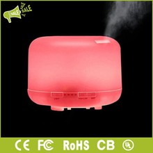 Cool mist ultrasonic aroma diffuser with 7 color changing LED and 4 timer settings