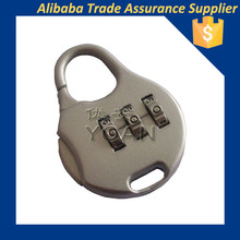 keyless 3 number mechanical password combination bag luggage locks