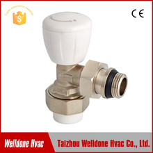 Brass temperature controller thermostatic radiator valve packed with return valve