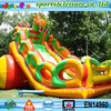 Russia hot sale hippo dragon inflatable balloon slide for kids and adults