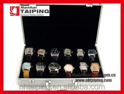 10/12 Grids Slots Jewelry Watch Display Case Aluminum Box Storage Holder