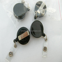 Wholesale Cheap Flat Surface Black Retractable ID Badge Reels