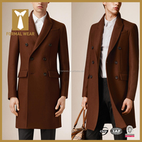 European Style Fashion Winter Slim Fit mens wool overcoat