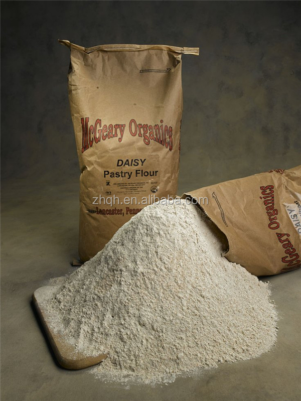Brown craft paper bags for wheat flour and tapioca starch 15kg 30kg