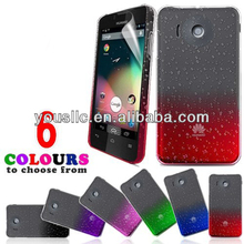3D crystal raindrop mobile phone hard case cover for Huawei ascend Y300