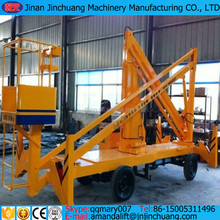 Articulated towable boom lift/truck mounted hydraulic lifting platform