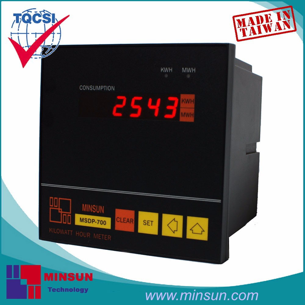 MSDP-700 LED Display Digital KWH Meter with Pulse Output