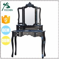 Top Quality Elegant Clearance Goods New Bed Design With Dressing Table
