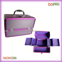 Lavender color beautiful aluminum cosmetic train case(SACMC066)
