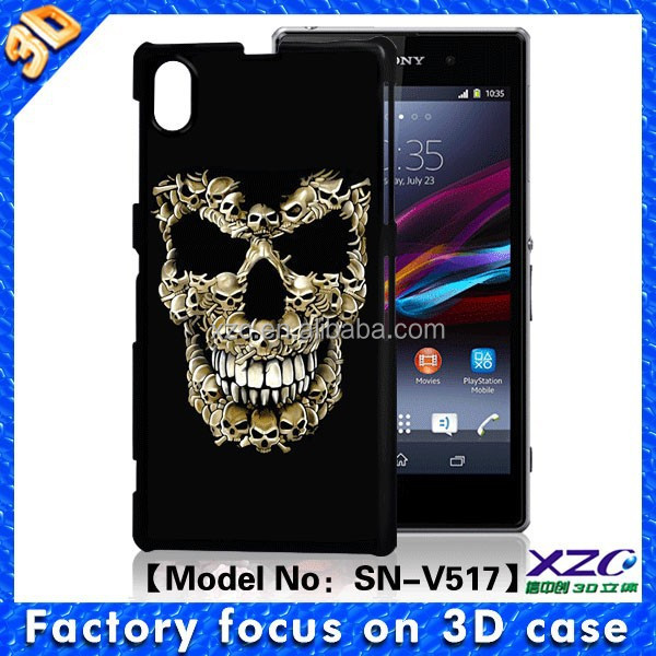China overstock cheap cell phone back cover case for sony xperia z1
