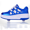 2017 High quality kids skating roller shoes one wheel or two wheels fashion skating shoes wheel roller skating shoes NO.050