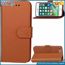 China supplier OEM classic business style smart phone wallet cover for iphone 7 plus