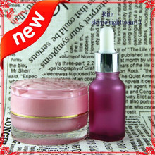 pink ejuice glass bottle with aluminum cap for essentilal oil,pin glass bottle jar