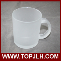 Logo Print Matte Color Glass Mug 11 oz