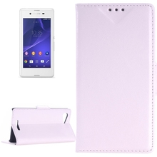 Oil Skin Texture Horizontal Flip Leather Case with Card Slots & Wallet & Holder for Sony Xperia E3