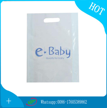 Hand Reinforced Plastic Die Cut Bag With pillow