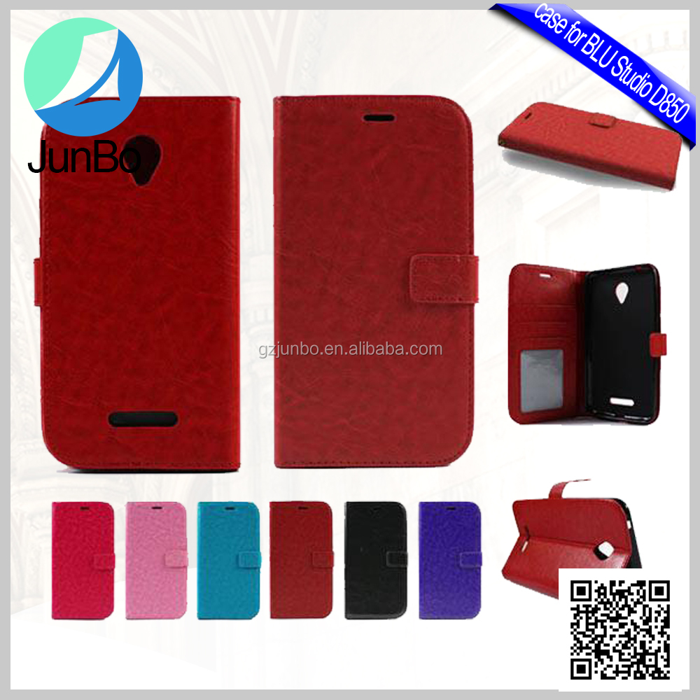 CellPhone New Wallet Leather Phone Case with Card Slots for BLU Studio D850