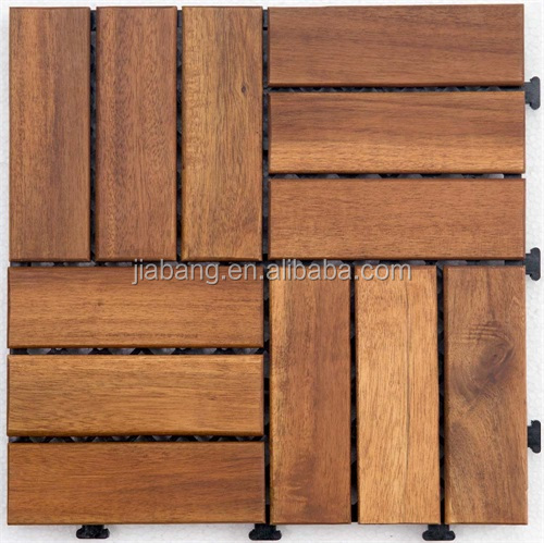 Foshan cheap price Acacia solid wood flooring interlocking deck tile for garden