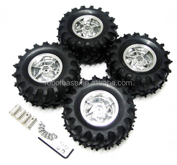Off-road Elastic Rubber Wheel for robot car platform