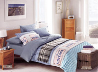 Checked printed bedding set