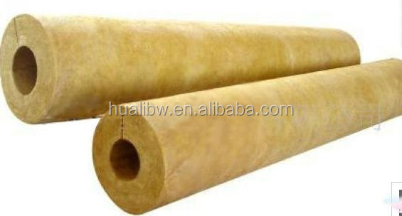 Mineral basalt wool Pipeline insulation Project high temperature resistent thermal insulation rock wool pipe/tube
