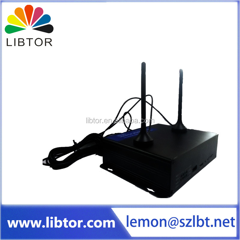 3G wifi advertisement M2M modem Industrial wireless router supporting socket server and customer end mode