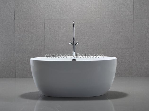 1300mm Portable Small Freestanding Acrylic Bathtub