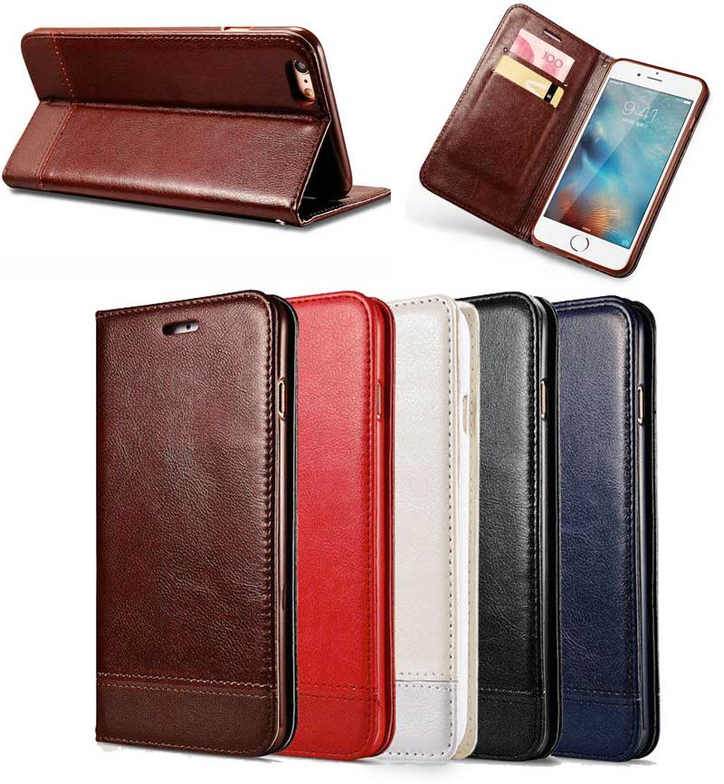 Fashion Style Luxury Splicing Leather Folio Case for iphone 7, for iPhone 7 Cover