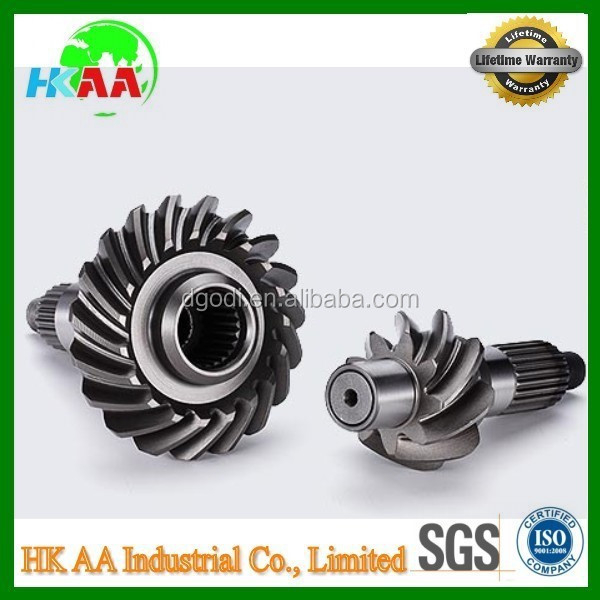 Custom drawing carbon steel pto gear shaft, transmission pto drive gear shaft