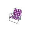 Patio Luxury Lightweight Folding Aluminum Lawn Webbing Chair Outdoor