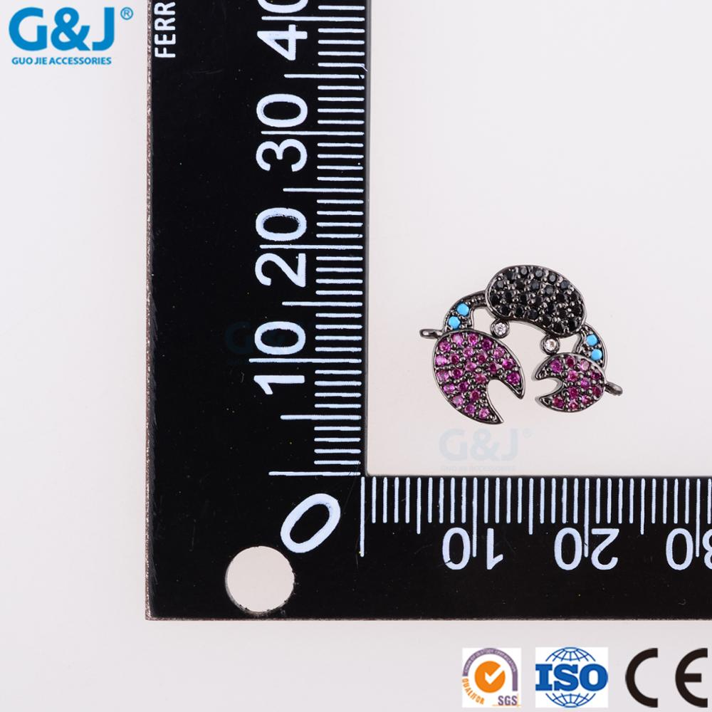 Guojie brand wholesale fashion crab jewelry charm pendant cubic zirconia loose beads crystal pendant