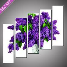 Butterfly Orchid Print Purple High Quality 3d Flower Oil Painting with Stretcher Bar