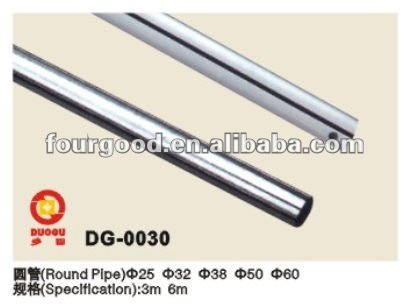Chrome-plating round oval elliptical square steel pipe display aluminum profile channel hanging rail