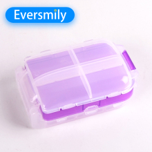 Child proof eco-friendly 8 compartment foldable pill box prices with lock