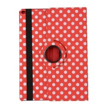 Hot Sale Colorful Magnetic Polka Dot 360 Degree Rotating Tablet Leather Cover Case Stand for iPad 4 iPad 3