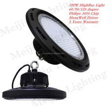 black housing ip65 industrial 3030 150w ufo led high bay light