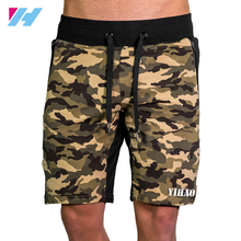 Yihao Men's fitness mesh tech mid shorts of Camo color for mens training shorts
