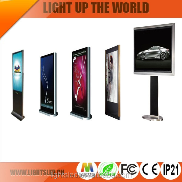 Frameless P5 55 Inch Lights LED Stand Advertising Machine Panel TV Made in China,Micro 3D LED Digital Video Wall Display Price