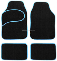New 4pcs blue floor mat for car accessories products