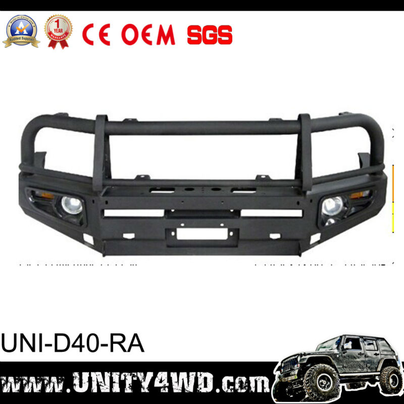 customized model cars auto parts wholersaler Rolled Steel navara front bumper d40